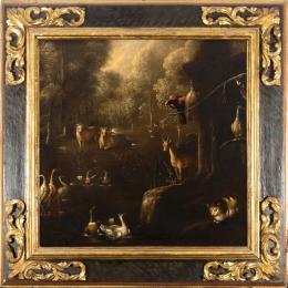 """30  -  <p><span class=""""object_title"""">Escuela flamenca del siglo XVII. Seguidor de Roelandt Savery. Jardín del Edén</span>.<br></p>"""