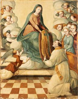 """11  -  <p><span class=""""object_title"""">Escuela italiana del siglo XVI. La imposición de la casulla a San Ildefonso.</span>.<br></p>"""