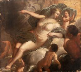 "41  -  <p><span class=""object_title"">Escuela veneciana del siglo XVII. Venus en la Fragua de Vulcano.</span>.<br></p>"
