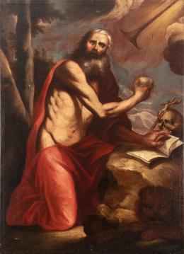 """38  -  <p><span class=""""object_title"""">Escuela italiana del siglo XVII. San Jerónimo penitente.</span>.<br></p>"""