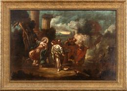"40  -  <p><span class=""object_title""> Escuela italiana del siglo XVII. Jesús y la Samaritana.</span>.<br></p>"
