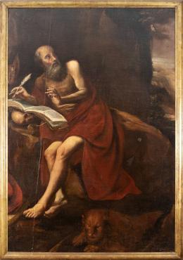 """44  -  <p><span class=""""object_title"""">Escuela andaluza del siglo XVII. San Jerónimo penitente.</span>.<br></p>"""