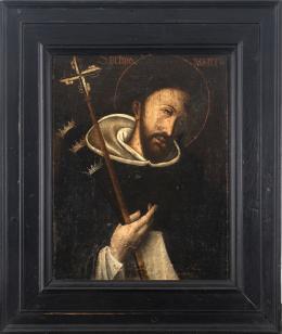 "46  -  <p><span class=""object_title"">Escuela española del siglo XVII. San Pedro mártir.</span>.<br></p>"