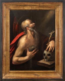 """14  -  <p><span class=""""object_title""""> Escuela italiana del siglo XVI. San Jerónimo. </span>.<br></p>"""