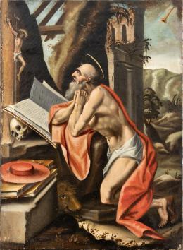 "52  -  <p><span class=""object_title""> Escuela flamenca del siglo XVII. San Jerónimo penitente.</span>.<br></p>"