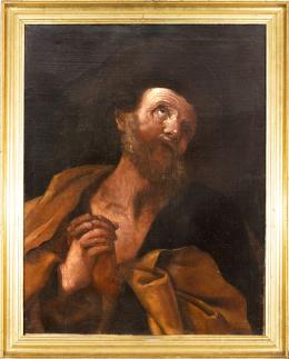 "49  -  <p><span class=""object_title"">Escuela italiana del siglo XVII. Seguidor de Guido Reni. El arrepentimiento de San Pedro. </span>.<br></p>"
