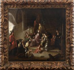 """50  -  <p><span class=""""object_title"""">Escuela holandesa del siglo XVII. Dejad que los niños se acerquen a mí. </span>.<br></p>"""