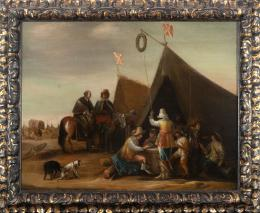 "54  -  <p><span class=""object_title"">Escuela flamenca del siglo XVII. Seguidor de Phillips Wouwerman. Campamento militar. </span>.<br></p>"