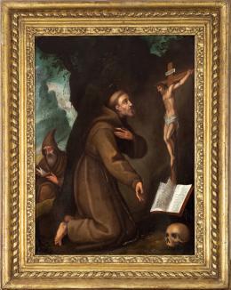 "59  -  <p><span class=""object_title"">Escuela italiana de principios del siglo XVII. Círculo de Ludovio Cardi Il Cigoli (San Miniato, 1559-Roma, 1613). San Francisco en oración. </span>.<br></p>"