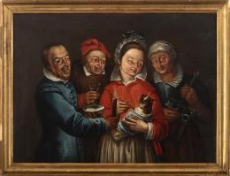 """17  -  <p><span class=""""object_title""""> Escuela boloñesa del siglo XVI. Círculo de Bartolomeo Passerotti (Bolonia, 1529-Roma, 1592) Alimentando al gato envuelto.</span>.<br></p>"""
