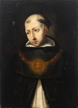 """27  -  <p><span class=""""object_title"""">Escuela colonial , México, siglo XVII. Santo Tomás de Aquino. </span>.<br></p>"""