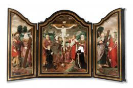 "22  -  <p><span class=""object_title""> Atribuido a Bartholomäus Bruyn el Joven (Colonia, 1530-1607). Calvario.</span>.<br></p>"