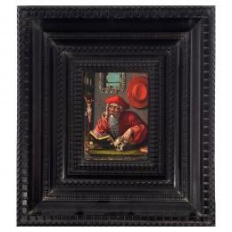 """21  -  <p><span class=""""object_title"""">Escuela flamenca del siglo XVI. Seguidor de Joos Van Cleve. San Jerónimo en su estudio.</span>.<br></p>"""